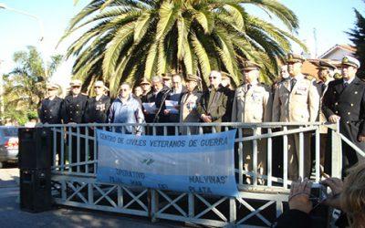 Acto en el Cenotafio ubicado en la plaza Pesquero Narwal en la ciudad de Mar del Plata 9 y 10 de mayo de 2011