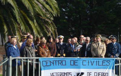 Acto en Mar del Plata en el Cenotafio de la Plaza Pesquero Narwal