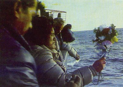 Familiares de fallecidos en Malvinas a bordo del Lago Lácar
