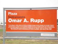 Inauguración de la Plaza «Omar Alberto Rupp»