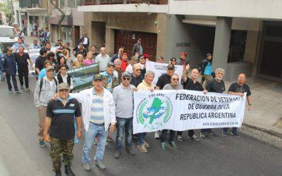 Movilización por reclamos anexo 40 y reconocimiento histórico