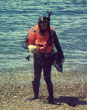 Pablo Rende cumpliendo su misión en Malvinas