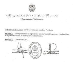 Distinción al Mérito Ciudadano de Mar del Plata a los Veteranos de Guerra Civiles Marinos Mercantes tripulantes de varios buques